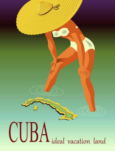 Sombrero Painting - Cuba by Long Shot