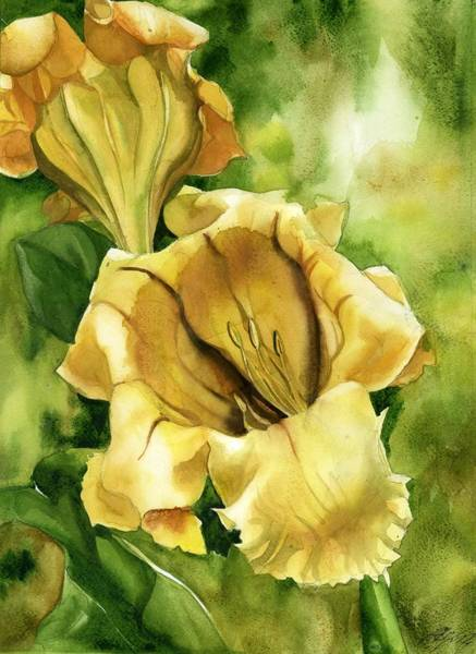 Painting - Cup Of Gold Vine by Alfred Ng