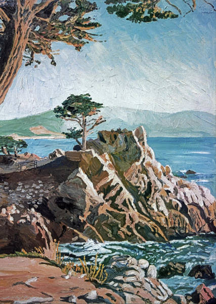 Painting - Cypress Point Monterey by David Lloyd Glover