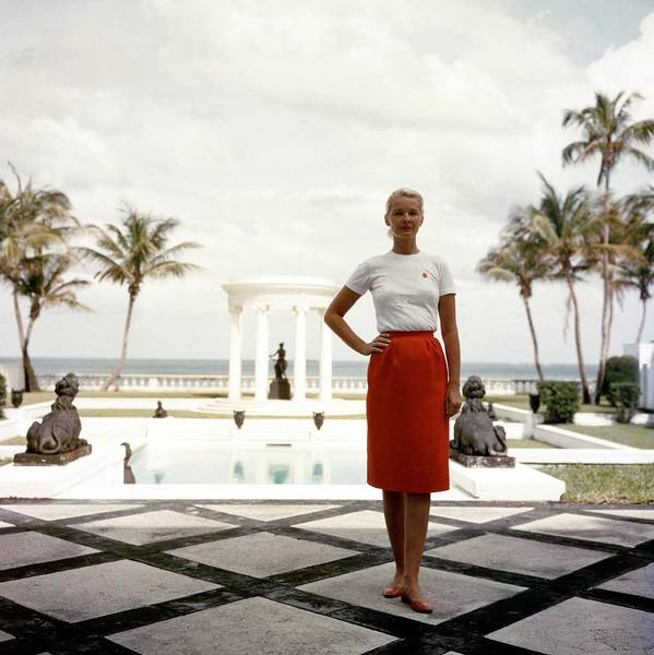 Square Photograph - Cz Guest by Slim Aarons