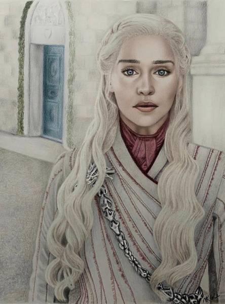 Drawing - Daenerys Targaryen  by Vanessa Cole