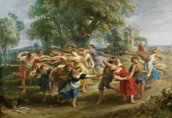 Wall Art - Painting - Dance Of Mythological Characters And Villagers by Peter Paul Rubens