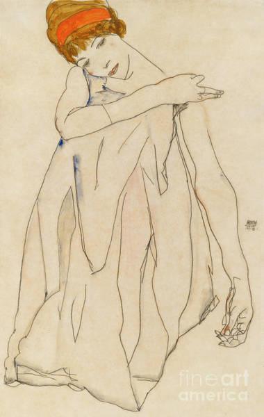 Painting - Dancer  Die Tanzerin, 1913 by Egon Schiele