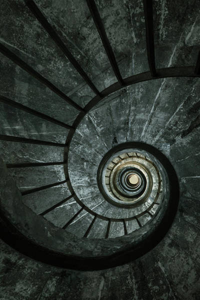 Wall Art - Photograph - Dark Spiral Staircase by Jaroslaw Blaminsky