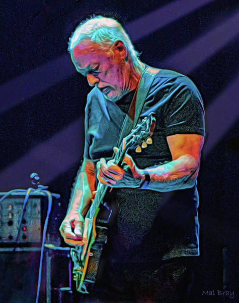 Wall Art - Mixed Media - David Gilmour Live by Mal Bray