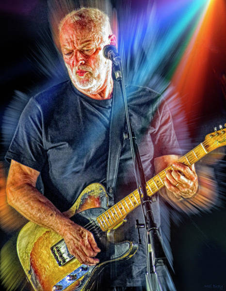 Wall Art - Mixed Media - David Gilmour by Mal Bray