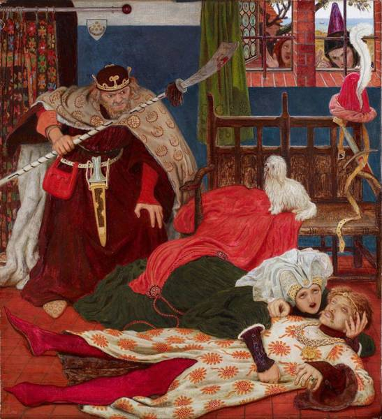 Wall Art - Painting - Death Of Sir Tristram by Ford Madox Brown