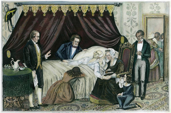 Wall Art - Painting - Death Of Washington, 1799 by Granger