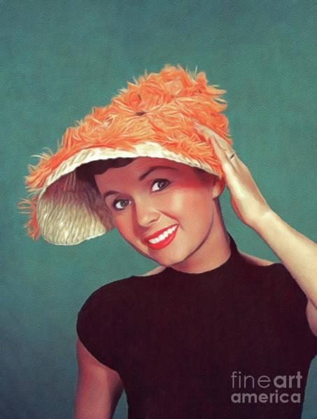 Wall Art - Painting - Debbie Reynolds, Vintage Actress by John Springfield