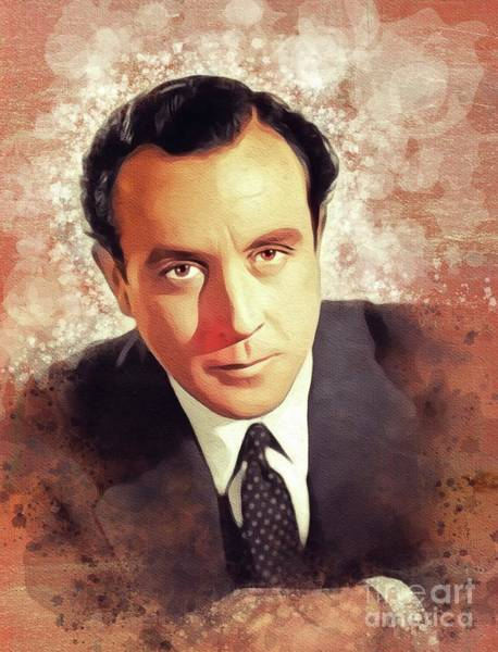 Wall Art - Painting - Dennis Price, Vintage Actor by John Springfield
