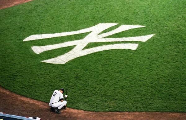 Yankee Stadium Photograph - Derek Jeter 2 by Jamie Squire