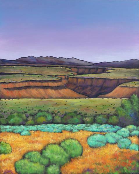 Desert Landscape Wall Art - Painting - Desert Gorge by Johnathan Harris