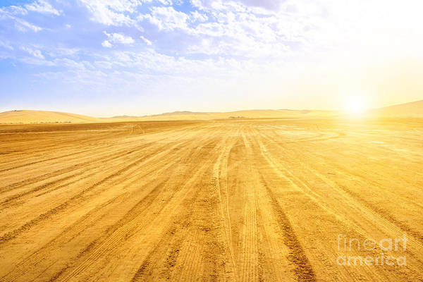 Photograph - Desert Landscape Qatar by Benny Marty