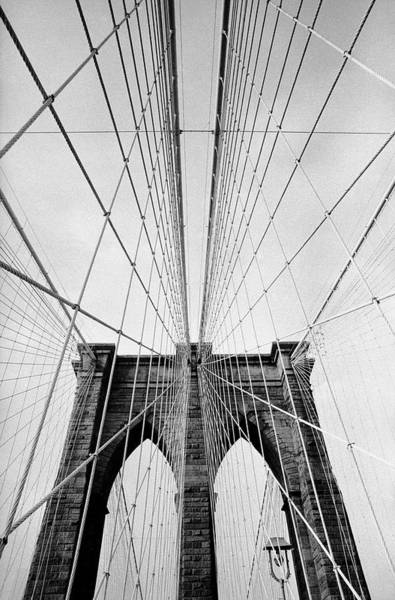 Photograph - Detail Of The Brooklyn Bridge by Alfred Eisenstaedt
