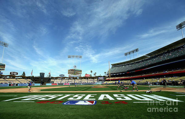 Photograph - Division Series - St Louis Cardinals V by Stephen Dunn