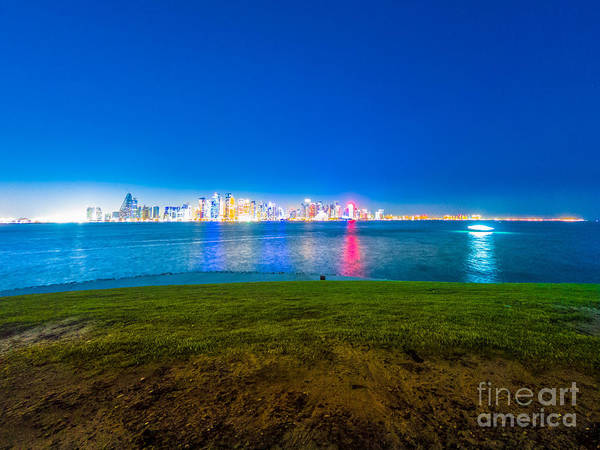 Photograph - Doha West Mound Skyline by Benny Marty