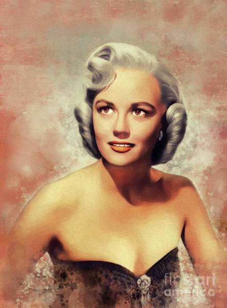 Wall Art - Painting - Dorothy Malone, Vintage Actress by John Springfield