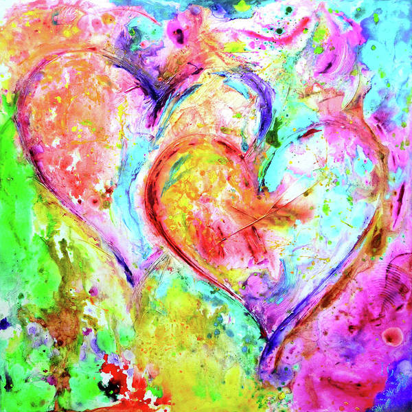 Wall Art - Painting - Dos Corazones by Ivan Guaderrama