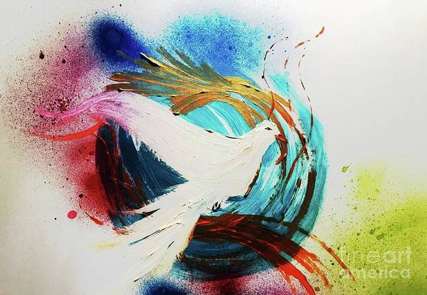Wall Art - Mixed Media - Dove by Amanda Dinan