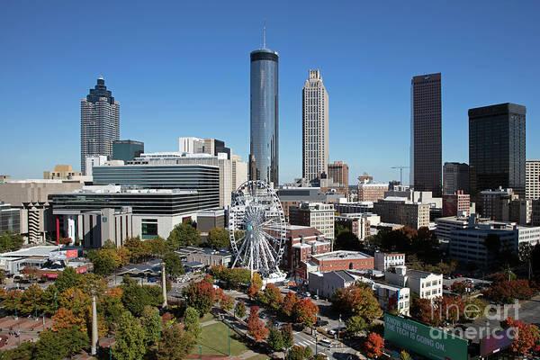 Wall Art - Photograph - Downtown Atlanta Skyline by Bill Cobb
