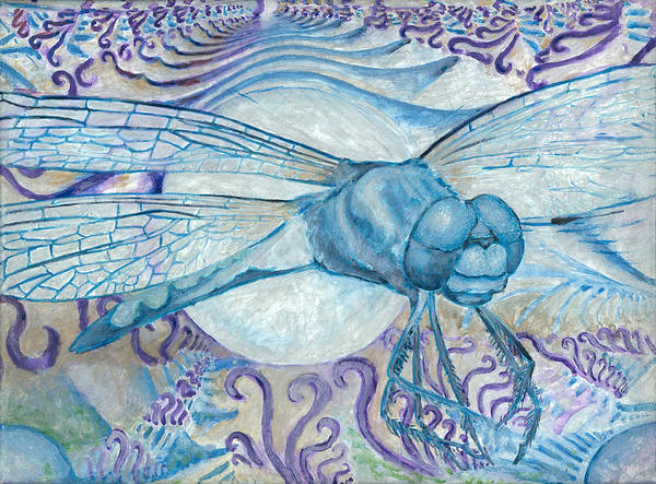 Painting - Dragonfly Moon by Jeremy Robinson