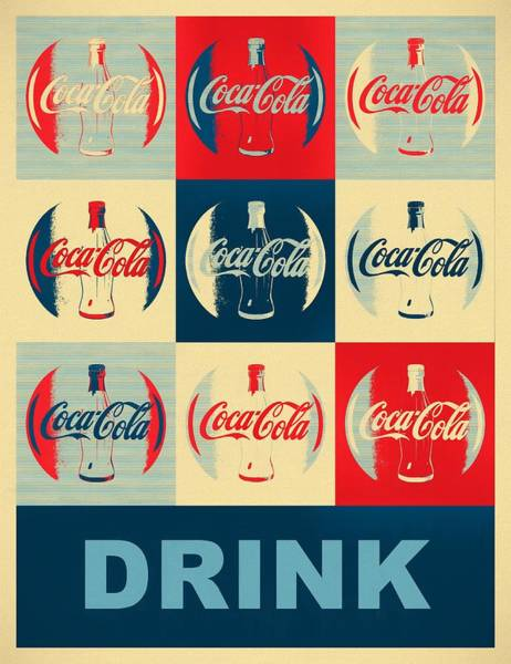 Wall Art - Mixed Media - Drink Coca Cola by Dan Sproul