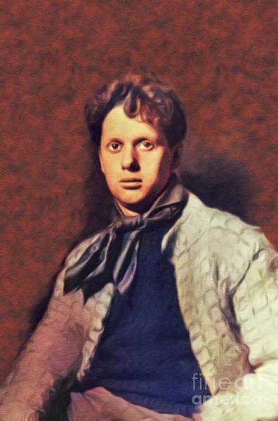 Wall Art - Painting - Dylan Thomas, Literary Legend by John Springfield