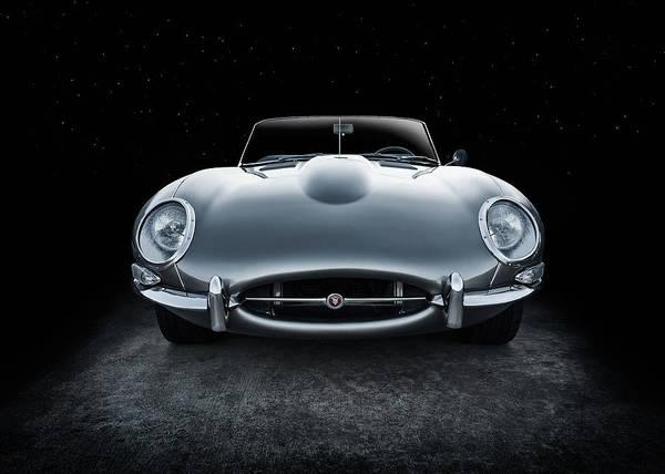 Wall Art - Digital Art - Silver Jaguar Xk-e by Douglas Pittman