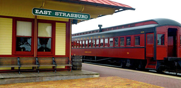 Photograph - East Strasburg Station by Paul W Faust - Impressions of Light