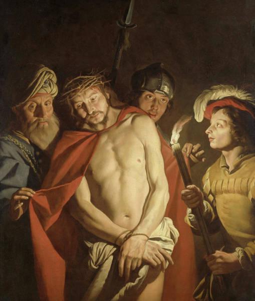 Pontius Pilate Wall Art - Painting - Ecce Homo by Matthias Stom