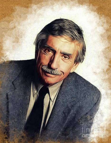 Wall Art - Painting - Edward Albee, Literary Legend by John Springfield