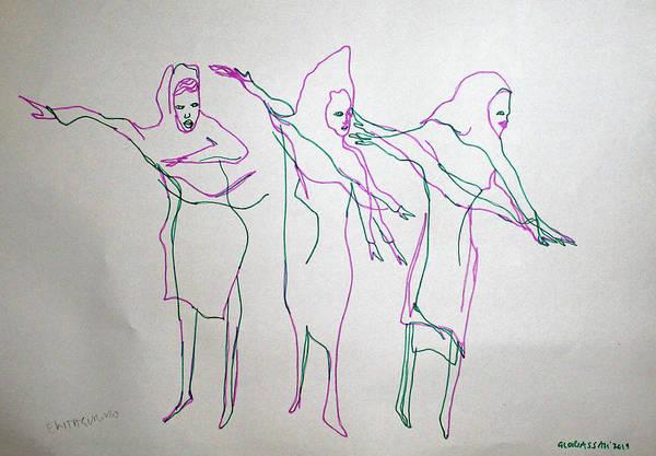 Painting - Ekitaguriro Traditional Dance Ankole Uganda by Gloria Ssali