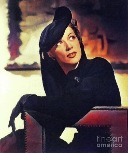 Wall Art - Painting - Eleanor Powell, Vintage Actress by John Springfield