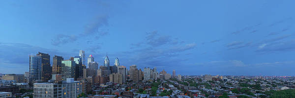 Wall Art - Photograph - Elevated View Of A City At Dusk by Panoramic Images