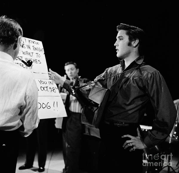 Photograph - Elvis On The Ed Sullivan Show by Cbs Photo Archive