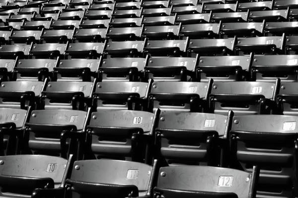 Photograph - Empty Stadium Seating Bw by Nic taylor