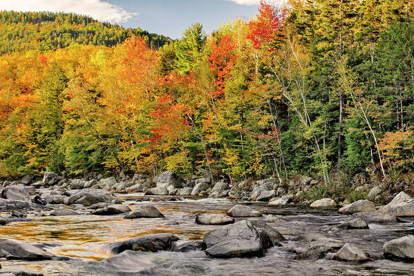 Albany Photograph - Fall Colors Reflecting On Swift River by Adam Jones