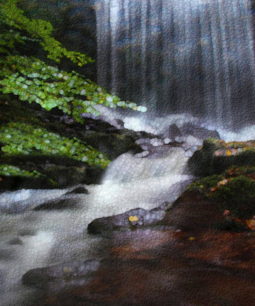 Wall Art - Painting - Falls by Jack Zulli