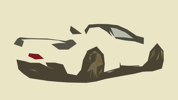 458 Digital Art - Ferrari Novitec Rosso 458 Spider Abstract Design by CarsToon Concept