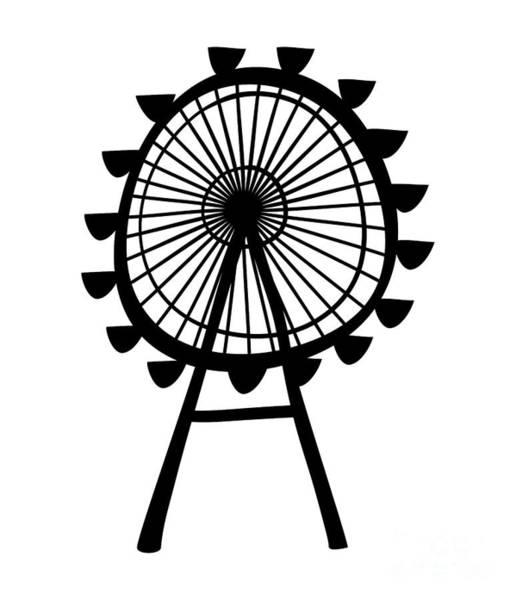 Wall Art - Digital Art - Ferris Wheel by Michal Boubin