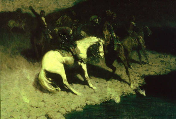 Shooting Painting - Fired On by Frederic Remington