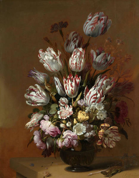 Wall Art - Painting - Floral Still Life by Hans Bollongier