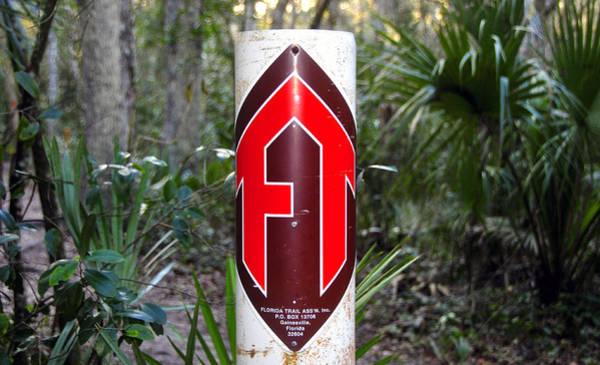 Wall Art - Photograph - Florida Trail Marker by David Lee Thompson