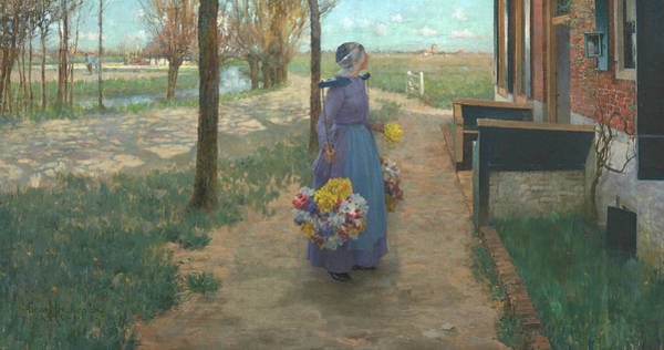 Painting - Flower Girl In Holland by George Hitchcock
