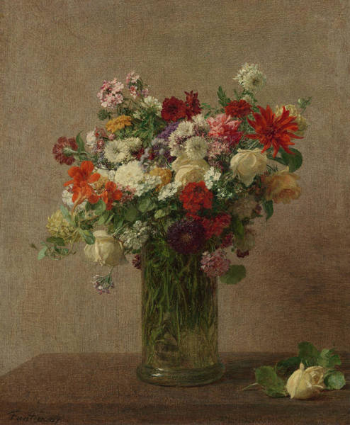 Wall Art - Painting - Flowers From Normandy by Henri Fantin-Latour