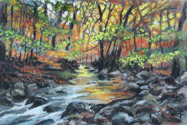 Pastel - Forest Brook by Jean Batzell Fitzgerald