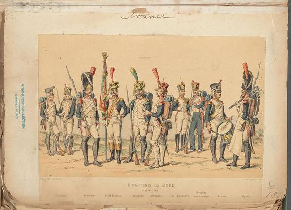 Wall Art - Painting - French Soldier In Uniform, France, 1800s - 10 by Celestial Images