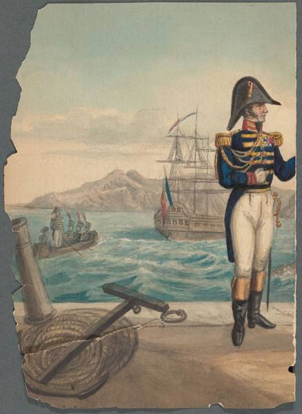Wall Art - Painting - French Soldier In Uniform, France, 1800s - 16 by Celestial Images