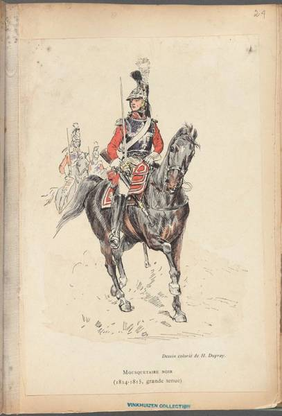 Wall Art - Painting - French Soldier In Uniform, France, 1800s - 19 by Celestial Images