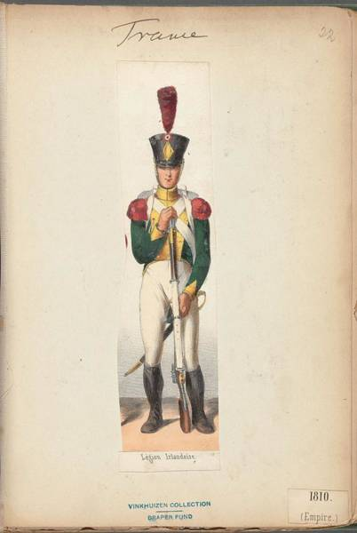 Wall Art - Painting - French Soldier In Uniform, France, 1800s - 6 by Celestial Images